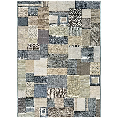 Bloomsbury Market Gene Gray/Green Area Rug; 5'3'' x 7'6''
