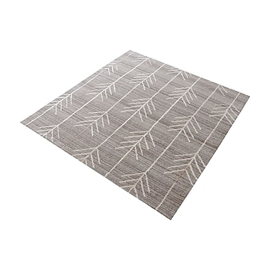 Bungalow Rose Maya Hand-Tufted Warm Gray Area Rug; Square 6''
