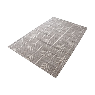 Bungalow Rose Maya Hand-Tufted Warm Gray Area Rug; 3' x 5'
