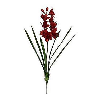 Bloomsbury Market Cymbidium Orchid Stem (Set of 2); Red