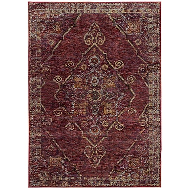 Bloomsbury Market Rosalia Medallion Red/Gold Area Rug; 5'2'' x 7'6''