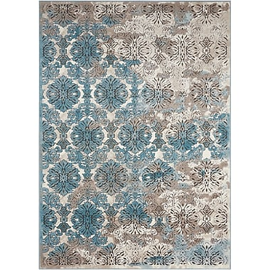 Bloomsbury Market Ronbow Ivory/Blue Area Rug; 9'3'' x 12'9''