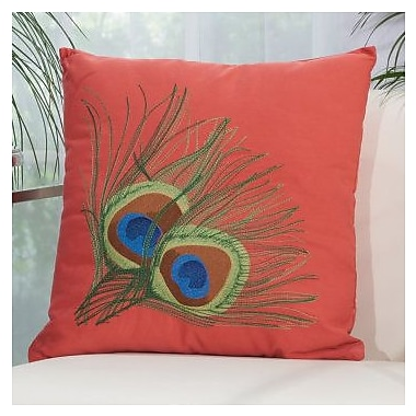 Bloomsbury Market Sirena Indoor/Outdoor Throw Pillow; Coral