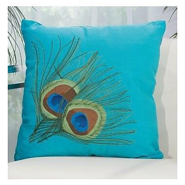 Bloomsbury Market Sirena Indoor/Outdoor Throw Pillow; Turquoise