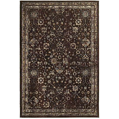 Bloomsbury Market Quenby Brown/Ivory Area Rug; 6'7'' x 9'6''