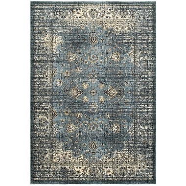 Bloomsbury Market Quenby Blue/Ivory Area Rug; 7'10'' x 10'10''