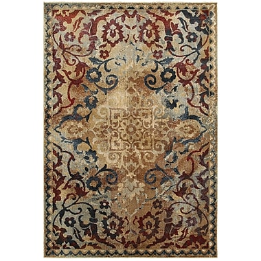 Bloomsbury Market Quenby Gold/Red Area Rug; 7'10'' x 10'10''