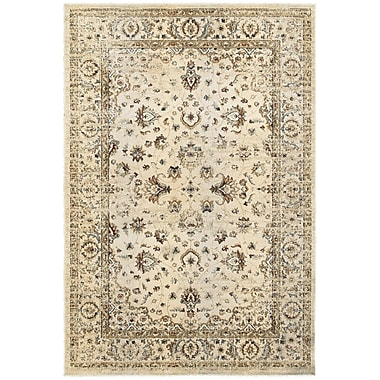 Bloomsbury Market Quenby Traditional Ivory/Gold Area Rug; 7'10'' x 10'10''