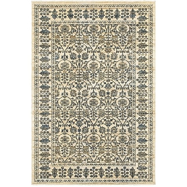 Bloomsbury Market Quenby Traditional Ivory/Blue Area Rug; 9'10'' x 12'10''