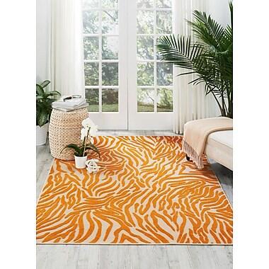 Bloomsbury Market Victorinox Orange Indoor/Outdoor Area Rug; 5'3'' x 7'5''