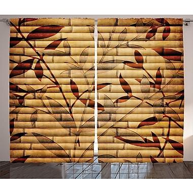 Bloomsbury Market Alperton Nature/Floral Semi-Sheer Rod Pocket Curtain Panels (Set of 2)