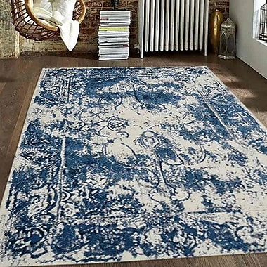 Bloomsbury Market Appenzell Ivory/Blue Area Rug; 4'4'' x 6'4''