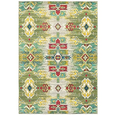 Bloomsbury Market Saige Yellow/Green/Red Area Rug; 7'10'' x 10'10''