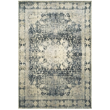 Bloomsbury Market Quenby Floral Ivory/Blue Area Rug; 6'7'' x 9'6''