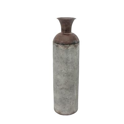 Bloomsbury Market Bowers Metal Bottle Floor Vase; 27.5'' H x 7.25'' W x 7.25'' D
