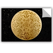 Bloomsbury Market Addison Golden Spheres 03 Removable Wall Decal; 24'' H x 36'' W x 0.1'' D
