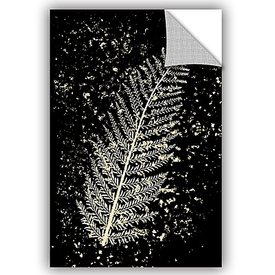 Bloomsbury Market Addison Gold Splatter Fern Removable Wall Decal; 48'' H x 32'' W x 0.1'' D