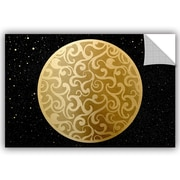 Bloomsbury Market Addison Golden Spheres 04 Removable Wall Decal; 32'' H x 48'' W x 0.1'' D