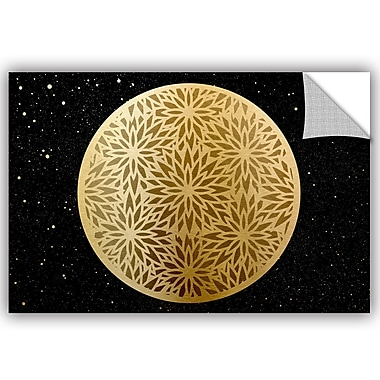 Bloomsbury Market Addison Golden Spheres 05 Removable Wall Decal; 16'' H x 24'' W x 0.1'' D