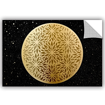 Bloomsbury Market Addison Golden Spheres 05 Removable Wall Decal; 24'' H x 36'' W x 0.1'' D