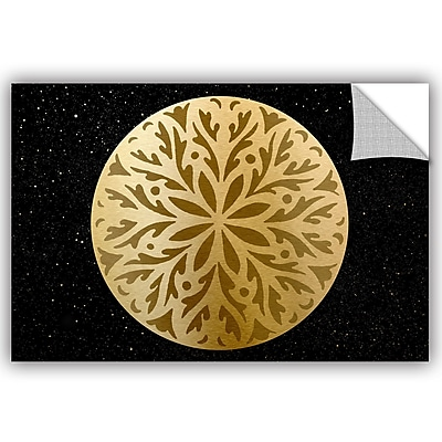 Bloomsbury Market Addison Golden Spheres 06 Removable Wall Decal; 24'' H x 36'' W x 0.1'' D
