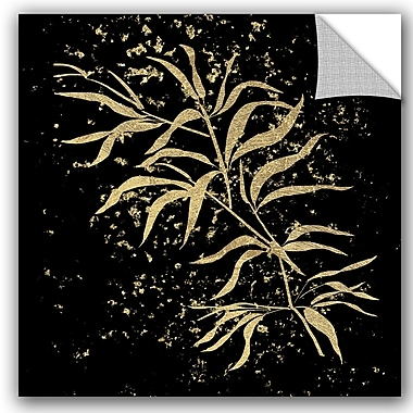 Bloomsbury Market Addison Gold Splatter Bamboo Removable Wall Decal; 10'' H x 10'' W x 0.1'' D