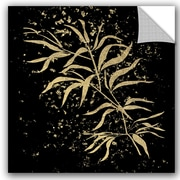 Bloomsbury Market Addison Gold Splatter Bamboo Removable Wall Decal; 36'' H x 36'' W x 0.1'' D