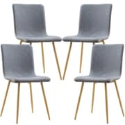 Corrigan Studio Amir Upholstered Dining Chair (Set of 4); Natural