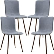 Corrigan Studio Amir Upholstered Dining Chair (Set of 4); Walnut