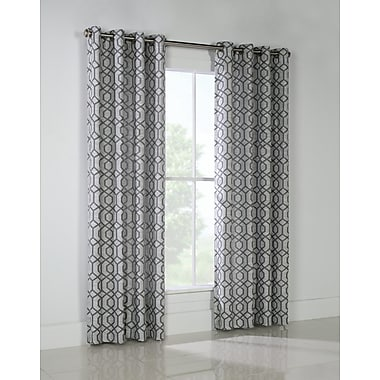 Ebern Designs Jeppesen Geometric Room Darkening Grommet Curtain Panels (Set of 2); 50'' W x 84'' L
