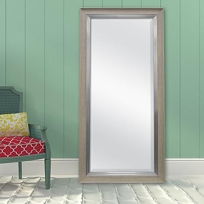 Darby Home Co Davet Beveled Leaner Full Length Mirror; Pewter