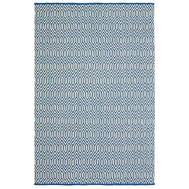Brayden Studio Johnstown Inside-Out Hand-Woven Blue Indoor/Outdoor Area Rug; 5' x 7'9''