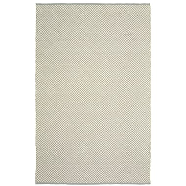 Brayden Studio Johnstown Inside-Out Hand-Woven Light Gray Rectangle Indoor Area Rug; 8' x 10'