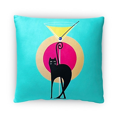 East Urban Home Martini Throw Pillow; 16'' x 16''
