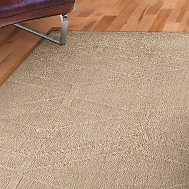 George Oliver Clarkstown Hand-Loomed Beige Area Rug; 5' x 8'