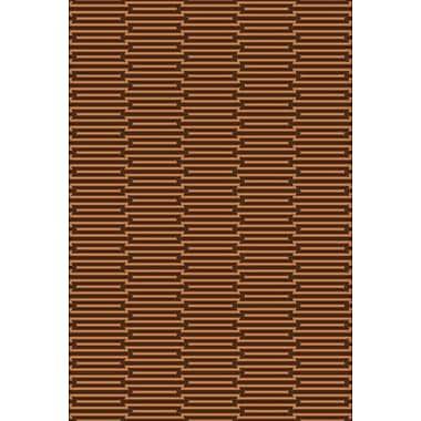 George Oliver Claverack Espresso/Golden Brown Rug; 5' x 8'