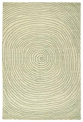 George Oliver Caneadea Hand-Tufted Green Geometric Area Rug; 9' x 12'