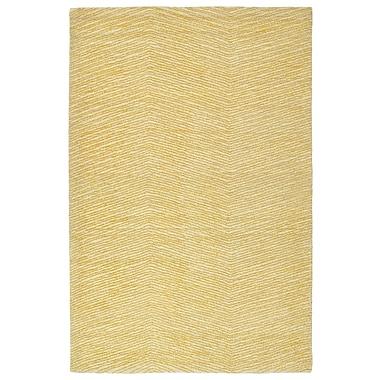 George Oliver Caneadea Hand-Tufted Gold Area Rug; 8' x 10'