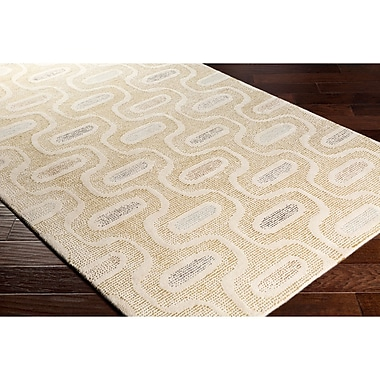 George Oliver Duane Hand-Tufted Neutral/Green Area Rug; 2' x 3'
