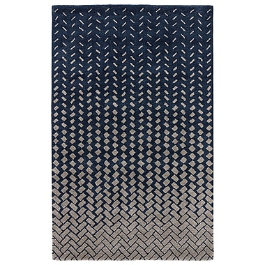 George Oliver Duanesburg Hand-Tufted Drizzle/White Swan Area Rug; 2' x 3'