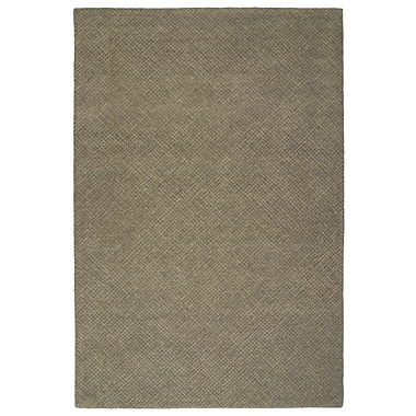 George Oliver Caneadea Hand-Tufted Gray Solid Area Rug; 8' x 10'