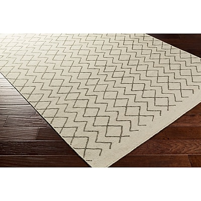 George Oliver Esopus Hand-Woven Brown/Neutral Geometric Area Rug; 5' x 7'6''