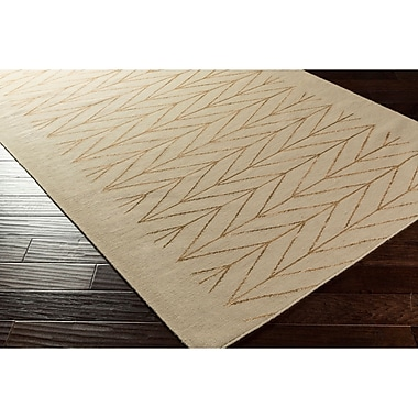 George Oliver Esopus Hand-Woven Brown/Neutral Area Rug; 2' x 3'