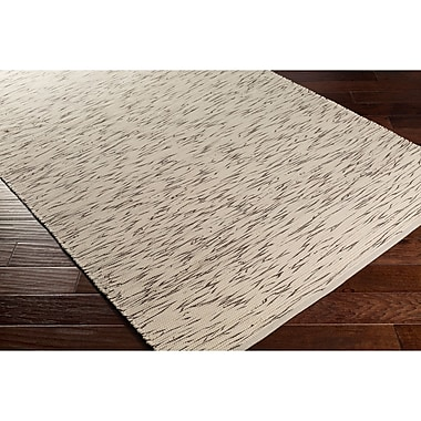 George Oliver Forestport Hand-Woven Brown/Neutral Abstract Area Rug; 5' x 7'6''