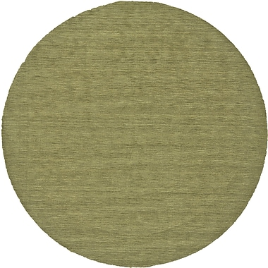 George Oliver Chazy Hand-Woven Green Area Rug; Round 10'