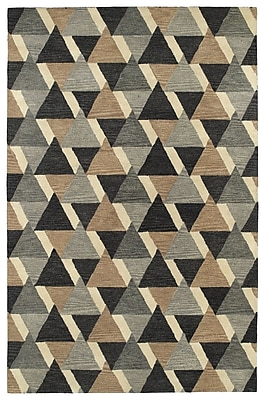 George Oliver Dresden Hand Tufted Gray/Brown Area Rug; 8' x 11'