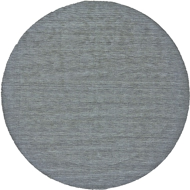 George Oliver Chazy Hand-Woven Smoke Area Rug; Round 8'