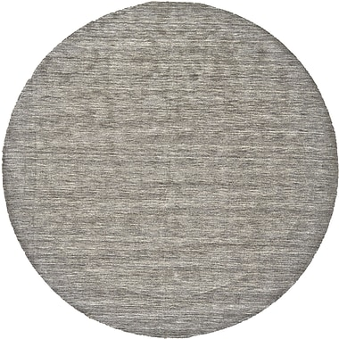 George Oliver Chazy Hand-Tufted Gray Area Rug; Round 8'