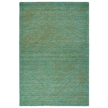 George Oliver Caneadea Hand-Tufted Turquoise Area Rug; 3'6'' x 5'6''