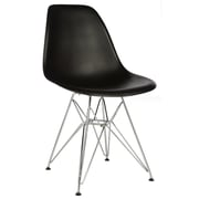 George Oliver Hammond Modern Side Chair; Black
